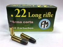 MUNICION C. 22 LR FM ARMA CORTA