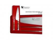 JUEGO DE TRINCHAR TRENTO FORJADO MADERA - 131462